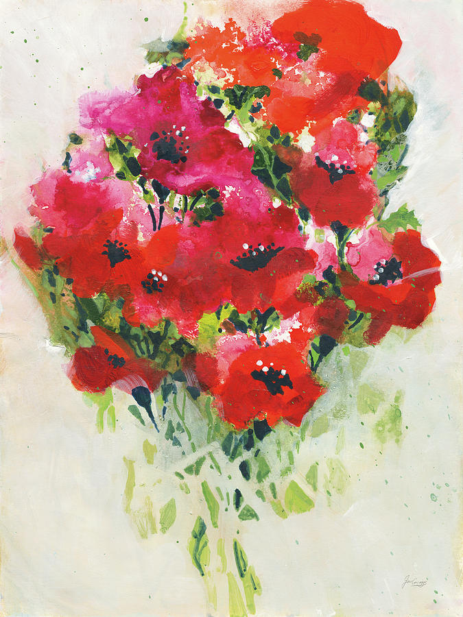 Bouquets Painting - Poppy Bouquet by Jan Griggs