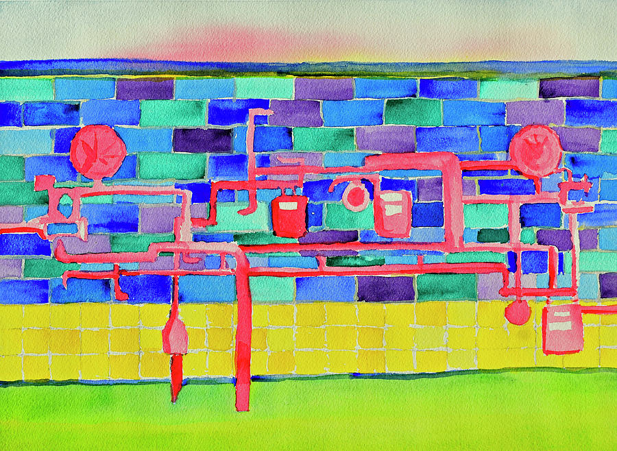 Popsicle Red Gas Meters by Paul Thompson