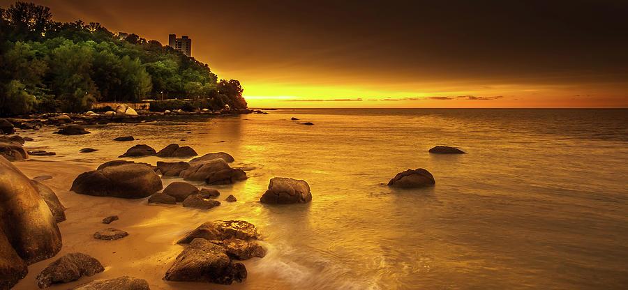 Popular Beach In Penang. Malaysia Photograph by Simonlong