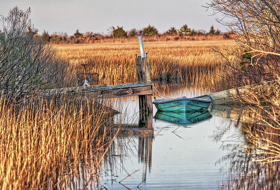 Poquoson Marsh Boat by Jerry Gammon