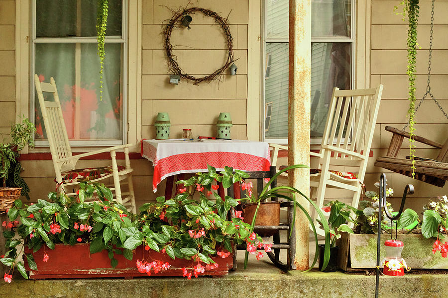 Porch - Belvidere NJ - A table for two by Mike Savad