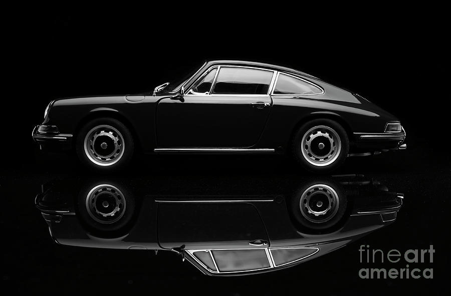 Porsche 911 Low Key In Black And White Photograph by Simonbradfield