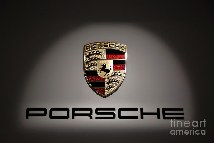 Porsche Logo Photograph - Porsche Car Emblem 2 by Stefano Senise