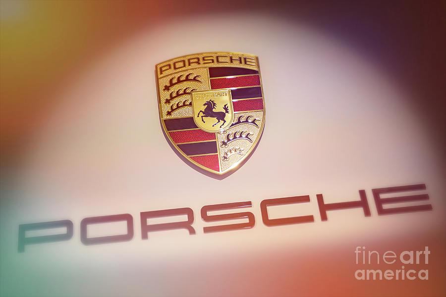 Porsche Logo Photograph - Porsche Car Emblem Angled by Stefano Senise