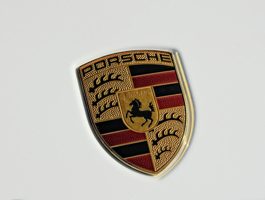 Porsche emblem, on white by Maggy Marsh