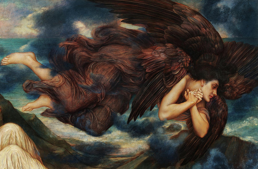 Evelyn De Morgan Painting - Port After Stormy Seas, The Angel Of Death, 1905 by Evelyn De Morgan