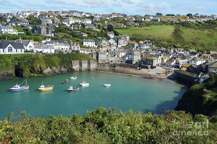 Port Isaac harbour and village, Cornwall by David Birchall