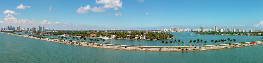 Port Of Miami Panoramic by Kristia Adams