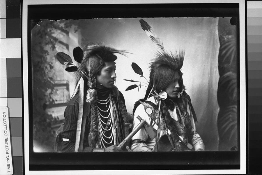 Port. Of Pair Of Unident. Native America Photograph by Time Life Pictures