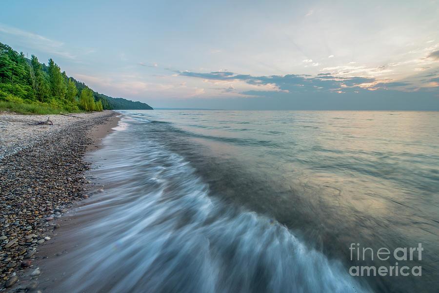 Michigan Photograph - Port Oneida Waves by Twenty Two North Photography