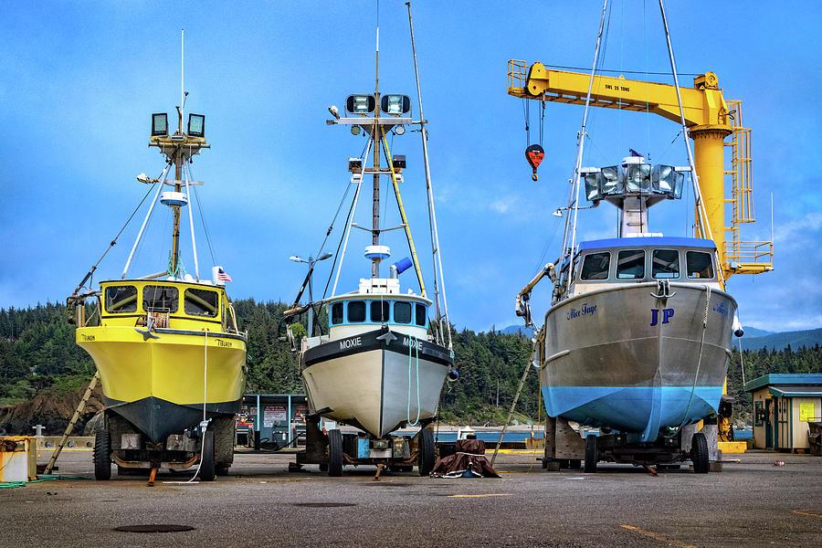 Port Orford Dolly Dock by Carolyn Derstine