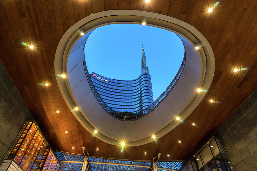 Porta Nuova Levels and Skyscrapers - Sensuous Curves and Ovals in Milan Italy by Georgia Mizuleva