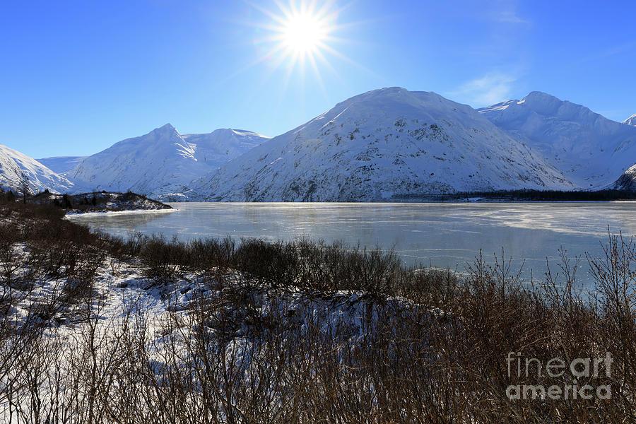 Portage Glacier Photograph - Portage Lake Alaska by Louise Heusinkveld