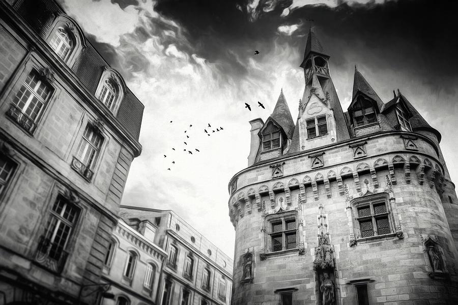Porte Cailhau Bordeaux France Black And White Photograph