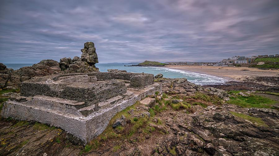 Porthmeor beach January View by Eddy Kinol
