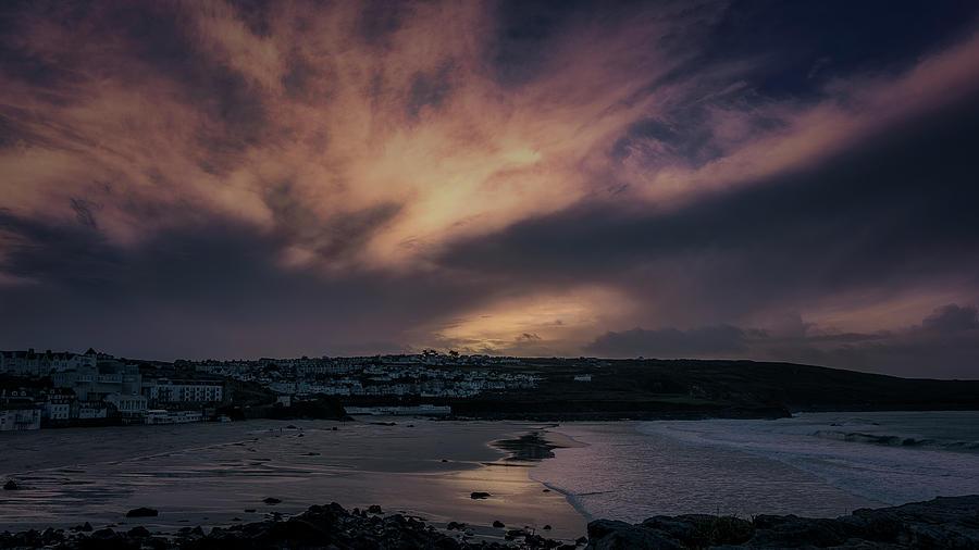 Porthmeor Sunset 4 by Eddy Kinol
