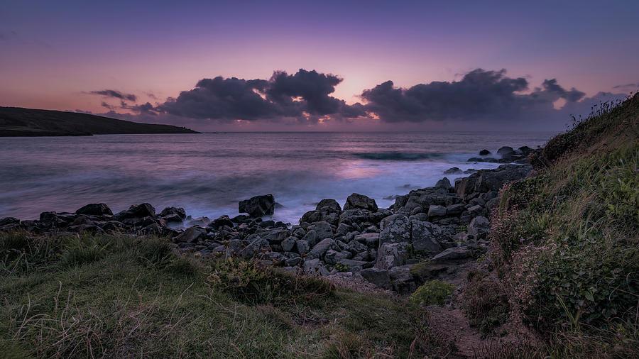 Porthmeor Sunset - Cornwall by Eddy Kinol