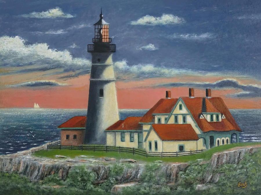 Cape Painting - Portland Head Light  by Gordon Beck