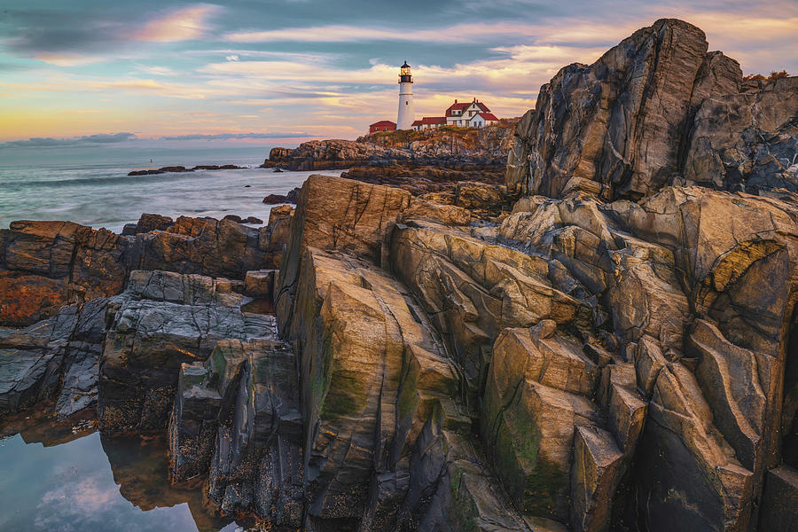 Portland Head Light on the Rocks by Gregory Ballos