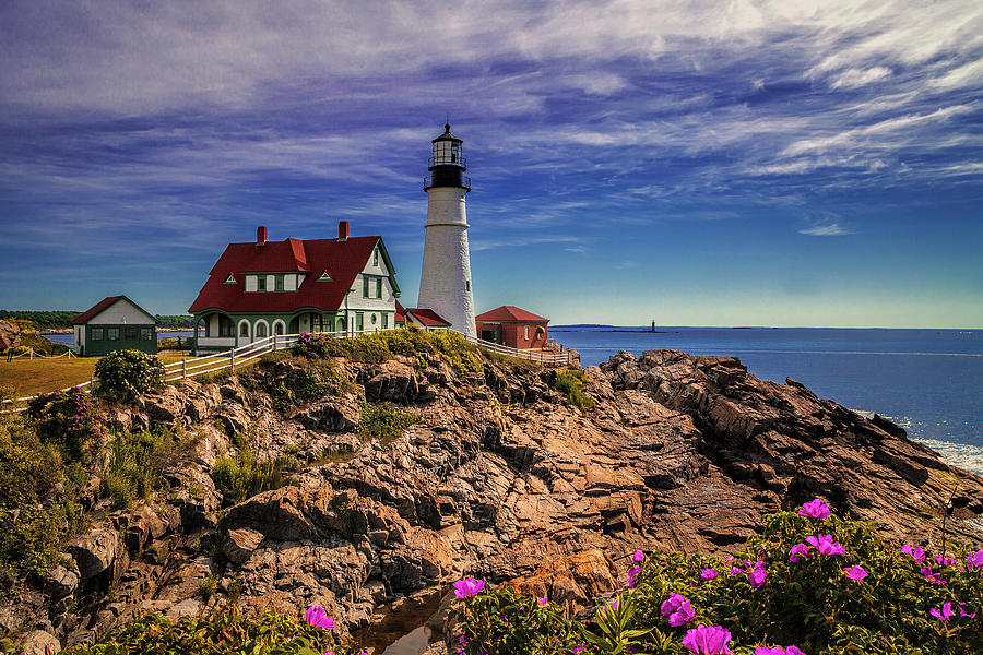 Maine Photograph - Portland Head Lighthouse by Andrew Soundarajan