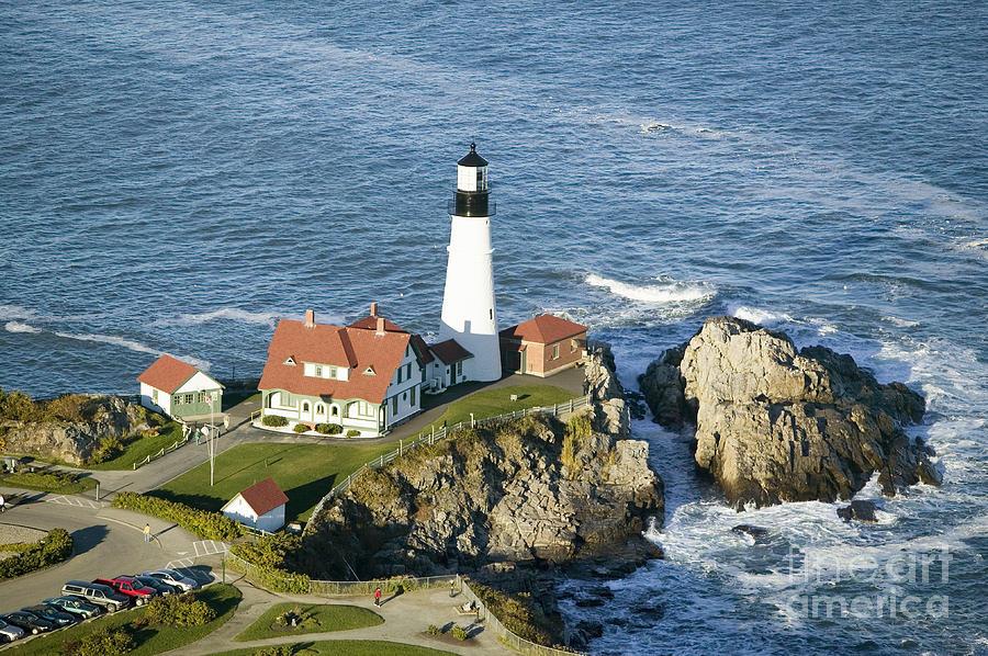 Usa Photograph - Portland Head Lighthouse, Cape by Joseph Sohm