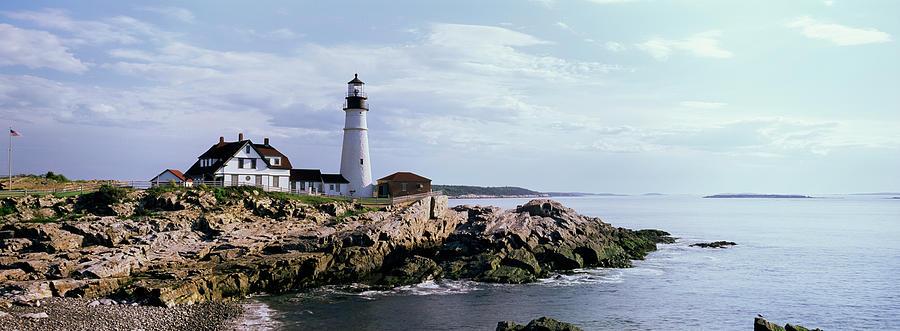 Portland Head Lighthouse, Cape Photograph by Tony Sweet