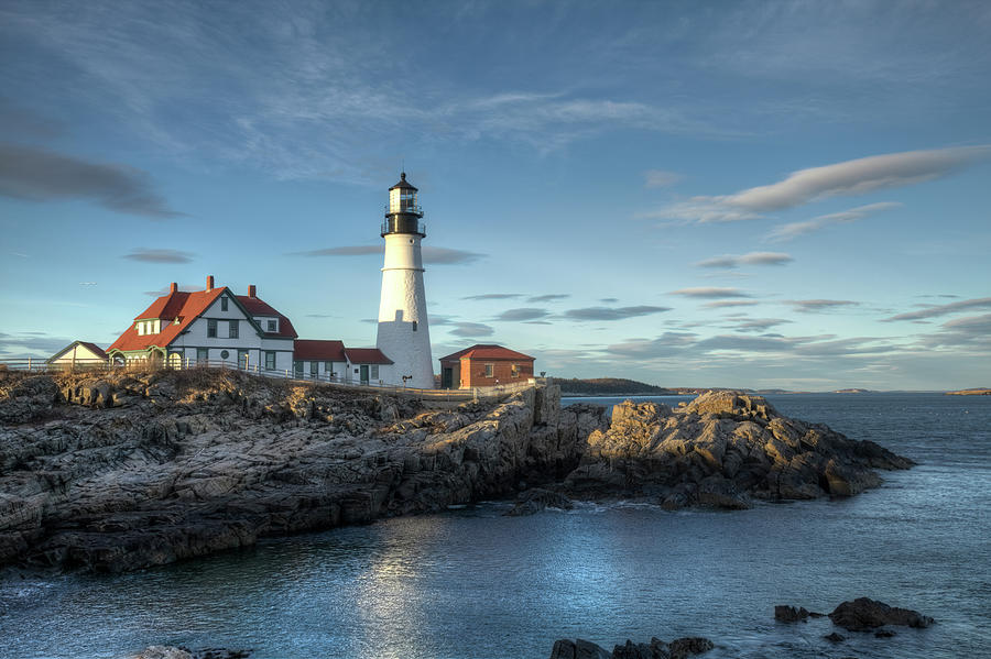 Portland Head Lighthouse Photograph by Kenneth C. Zirkel