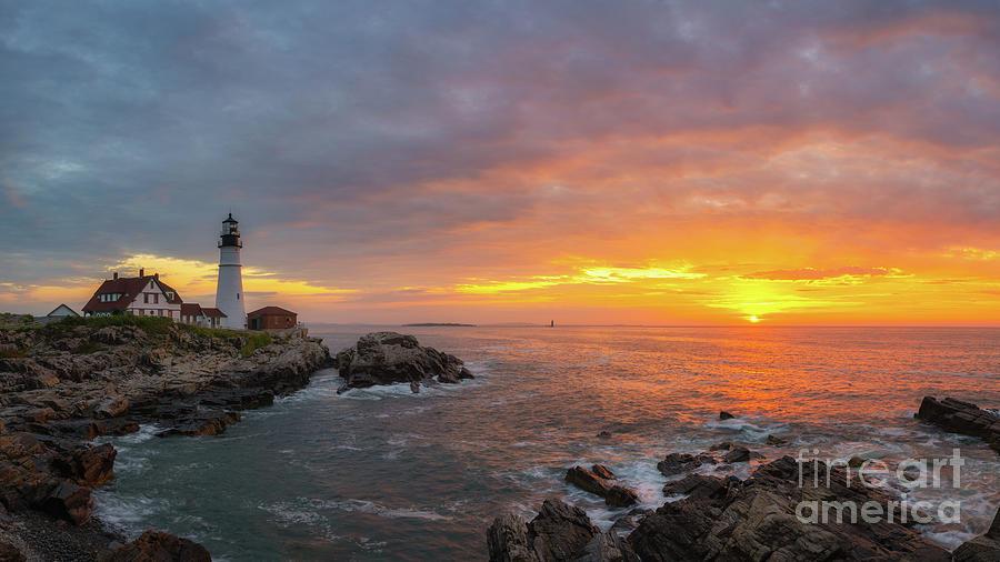 Cape Elizabeth Photograph - Portland Head Lighthouse Sunshine  by Michael Ver Sprill