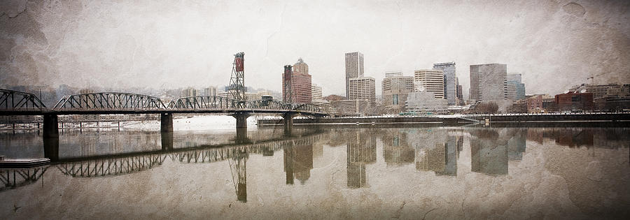 Portland Skyline, Oregon Photograph by Licreate