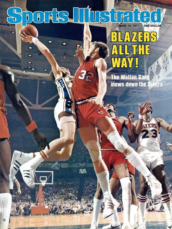 Portland Trail Blazers Bill Walton, 1977 Nba Finals Sports Illustrated Cover Photograph by Sports Illustrated