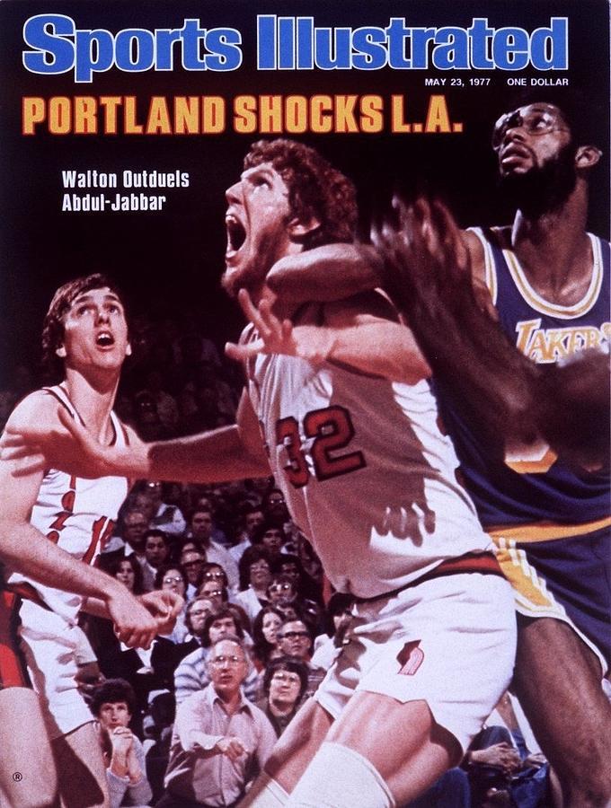 Portland Trail Blazers Bill Walton, 1977 Nba Western Sports Illustrated Cover Photograph by Sports Illustrated
