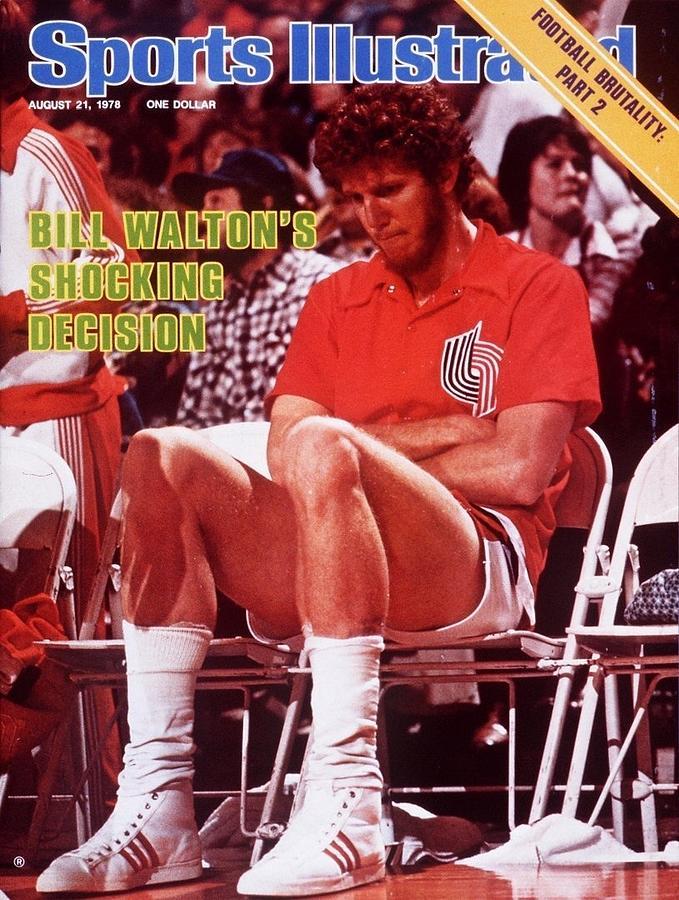 Portland Trail Blazers Bill Walton, 1978 Nba Western Sports Illustrated Cover Photograph by Sports Illustrated