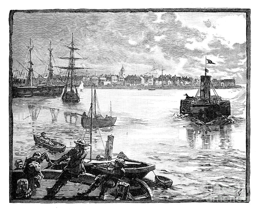 Portmouth Harbour, Hampshire, C1888 Drawing by Print Collector
