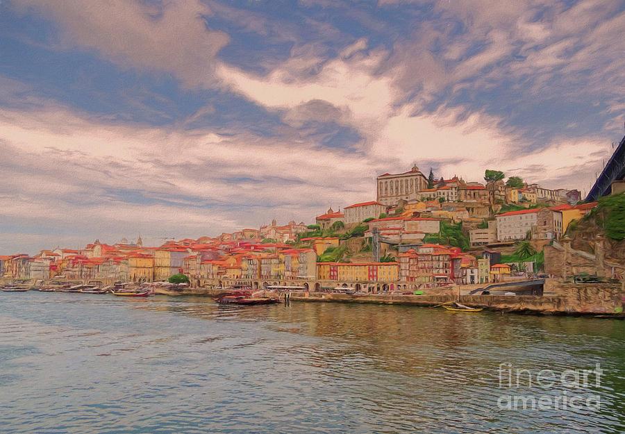 Porto 1 River scene 1 by Leigh Kemp