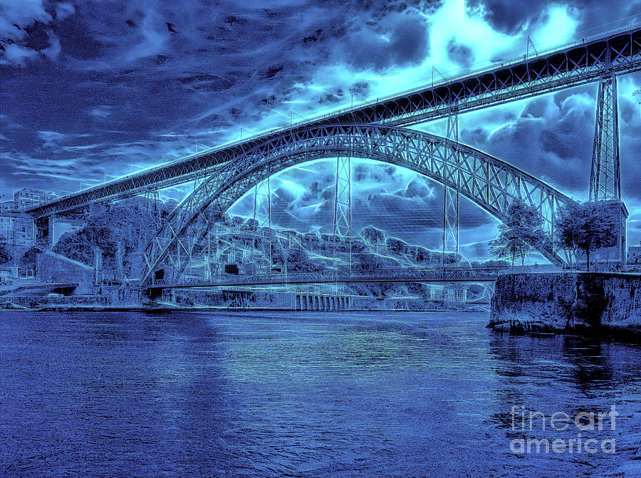 Porto 44 Blue bridge by Leigh Kemp