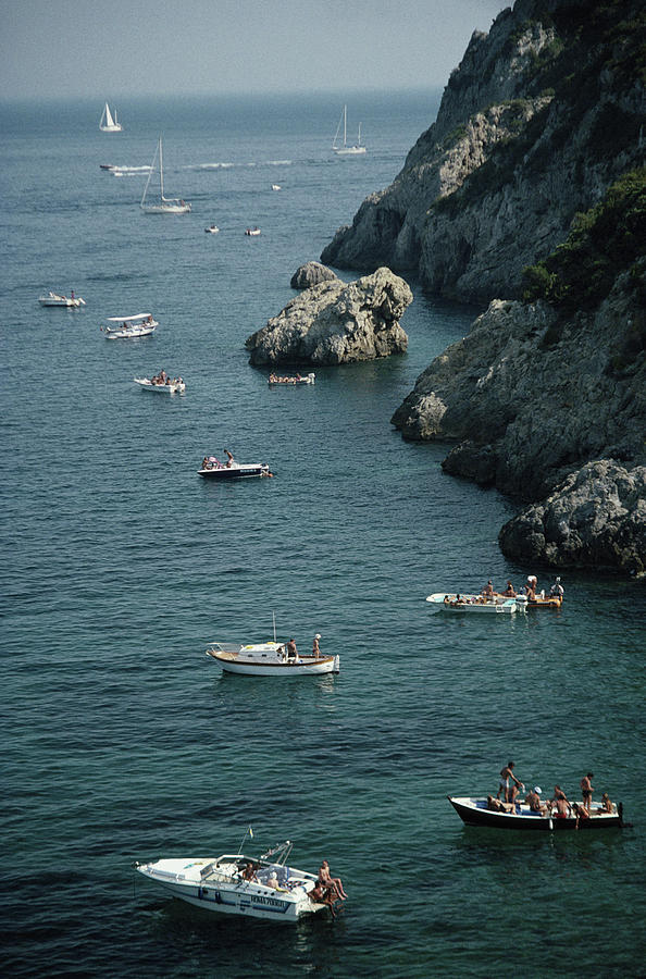 Porto Ercole Boats Photograph by Slim Aarons
