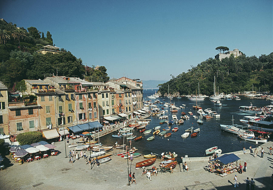 Portofino Harbour Photograph by Slim Aarons