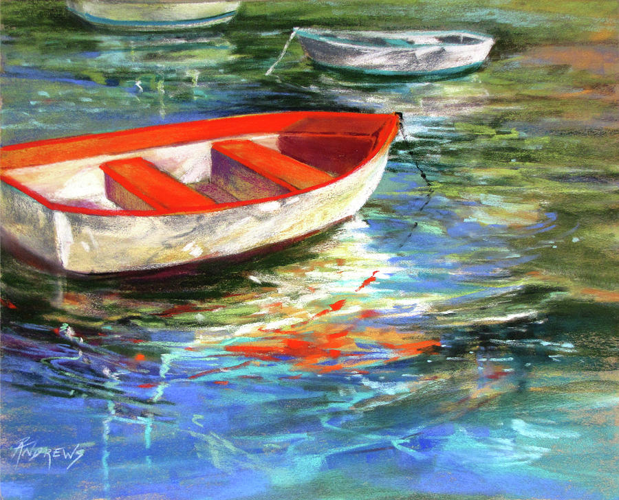 Boats Painting - Portofino Interlude by Rae Andrews