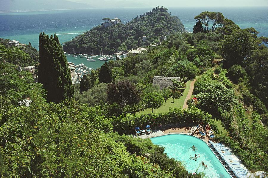 Portofino Villa Photograph by Slim Aarons