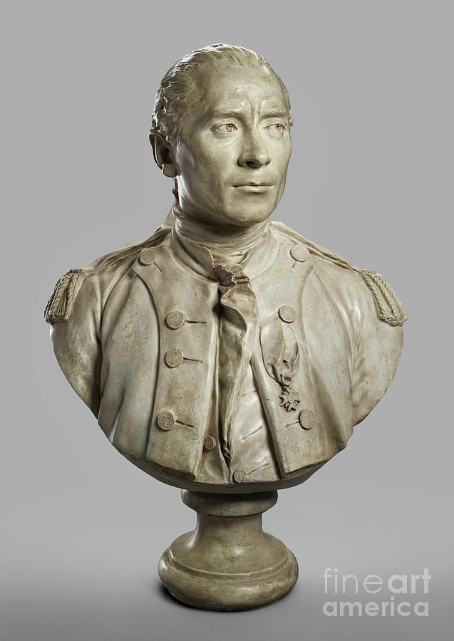 Portrait Bust of John Paul Jones by Jean-Antoine Houdon
