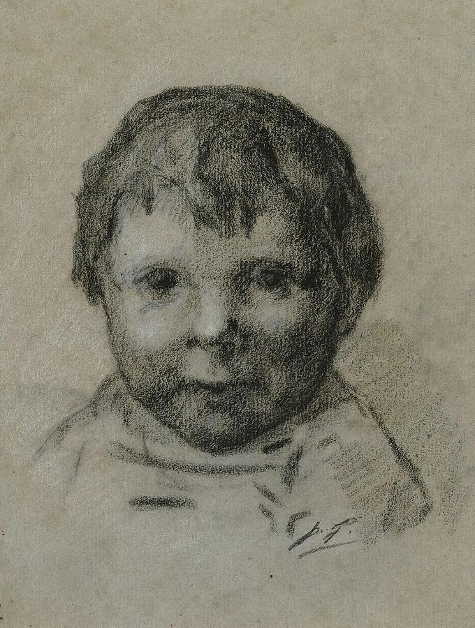 Portrait D enfant  by Paul Gauguin