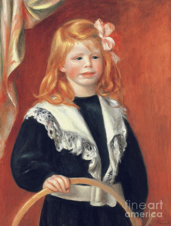 Renoir Painting - Portrait De Jean Renoir by Pierre Auguste Renoir