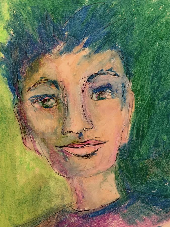 Portrait in Green by Mary Jane Mulholland