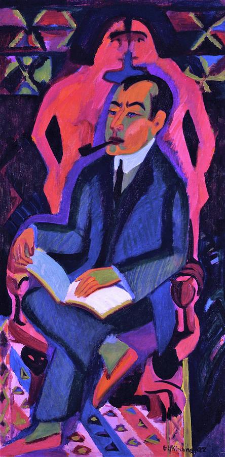 Ernst Ludwig Kirchner Painting - Portrait Manfred Schames - Digital Remastered Edition by Ernst Ludwig Kirchner