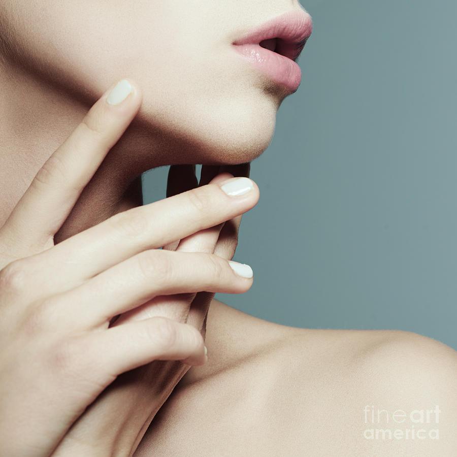Makeup Photograph - Portrait Of A Beautiful Girl Face In by Yuliya Yafimik
