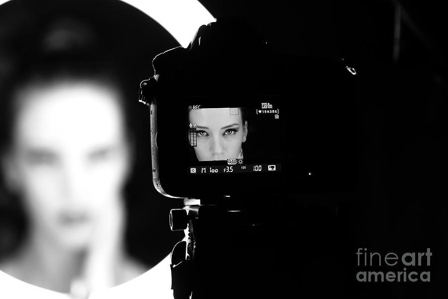 Studio Photograph - Portrait Of A Beautiful Girl Through by Alex Andrei