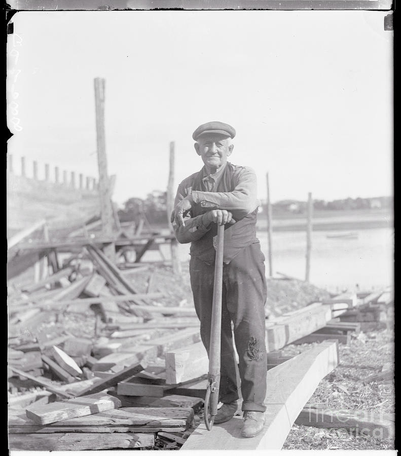 Portrait Of A Shipyard Workman Photograph by Bettmann