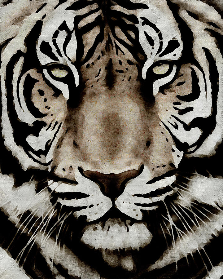 Portrait of a Tiger by Jan Keteleer
