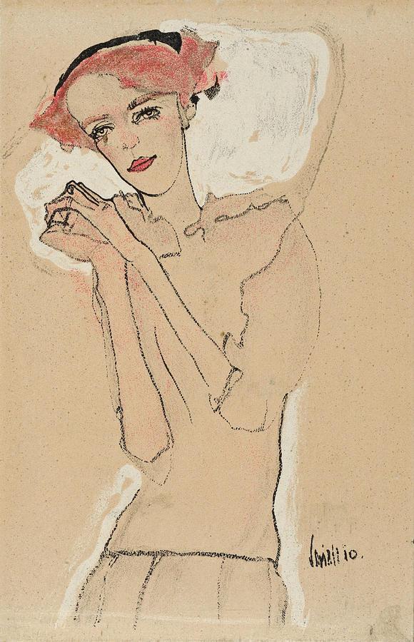 Portrait of a Woman 1 by Egon Schiele
