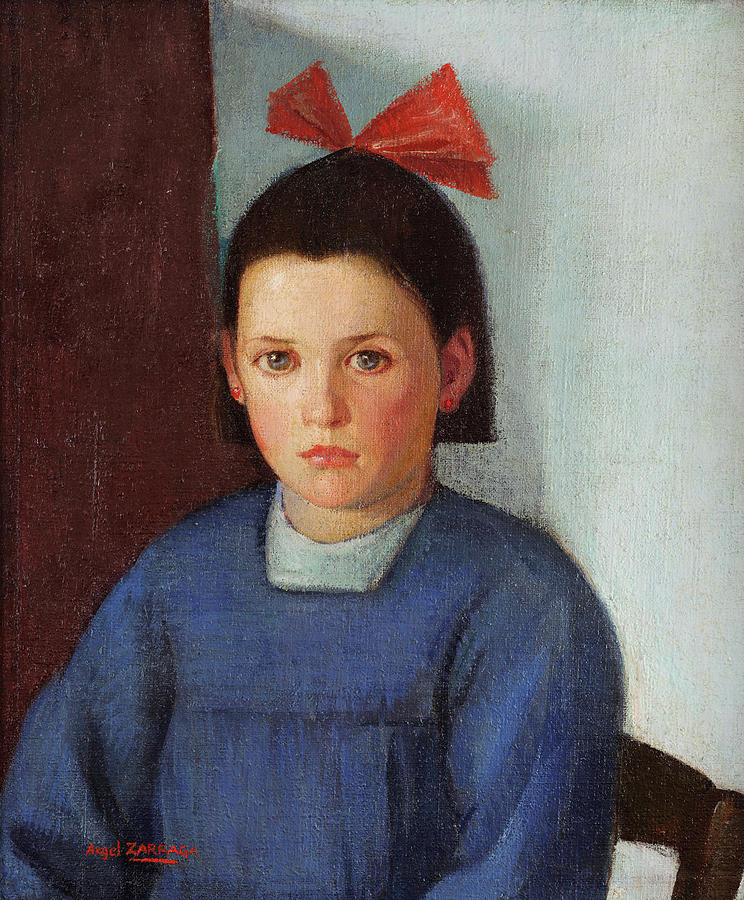 Portrait Of A Young Girl By Angel Zarraga